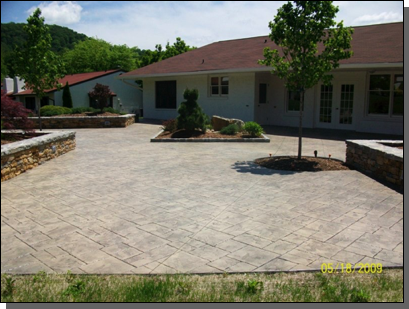 Pisgah Valley Retirement Candler, North Carolina Ashlar Stone Stamped Concrete Sand Color / Silver Release