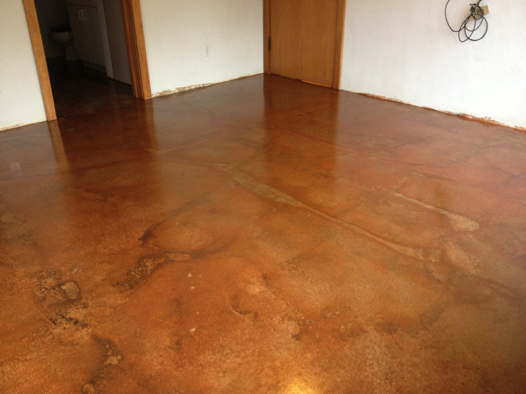 dark brown stained concrete floors. Variegated Semi Transparent Stain  Dark Adobe IMG 1381 g3i23 png